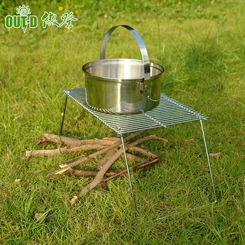 Portable stainless steel outdoor barbecue bbq grill grate wire mesh stand for cooking