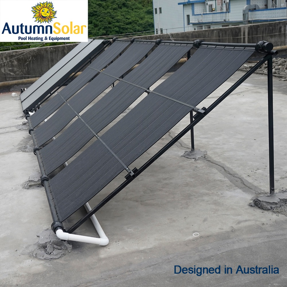 Solar collector for pool with high quality