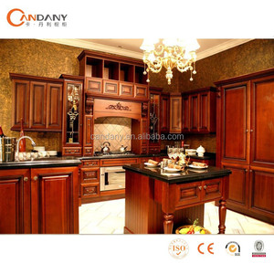 Hot Sale Classical Solid wood kitchen cabinets,mobile kitchen truck
