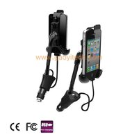 Fashionable and Adjustable viewing angle car battery charger for samsung/iPhone/HTC(HC-05)