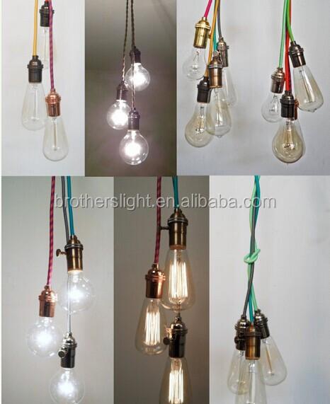 Any Color Custom Pendant Lighting- Bare Bulb Edison Lamp Modern ...