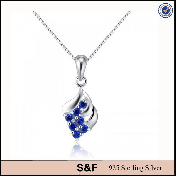 Sapphire Pendant 925 Sterling Silver Charms