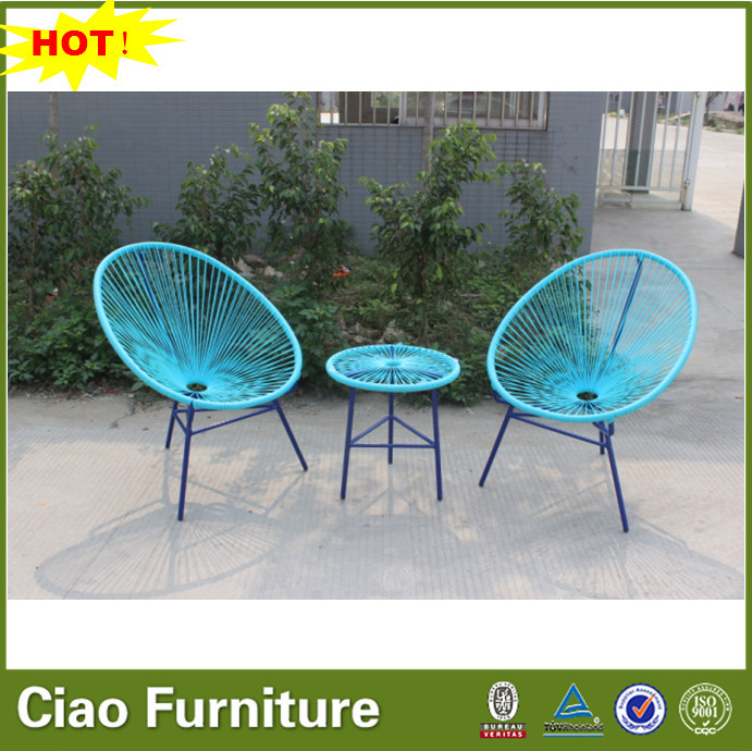 Colorful Outdoor Furniture Wicker Egg Shaped Chair