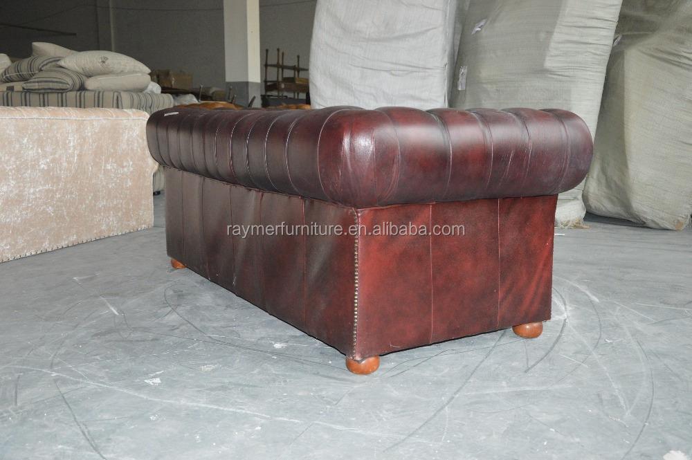 Amerikanischen antiken vintage stil zwei sitze braun farbe leder ...