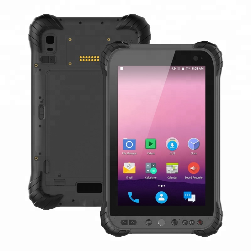 หน้าจอ 8 นิ้ว IPS OCTA core Android 8.1 ประเภท-C USB QCOM P300 กันน้ำแท็บเล็ต PC IP67
