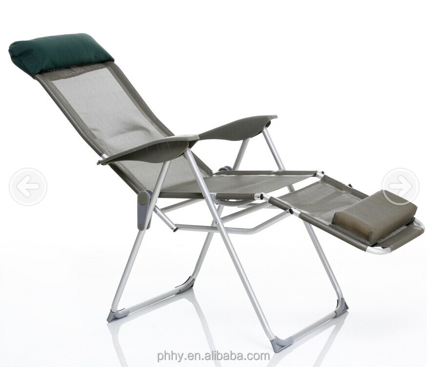 Ajustable Aluminum Lounge Folding Chair With Footrest Sun Lounger Buy Loung