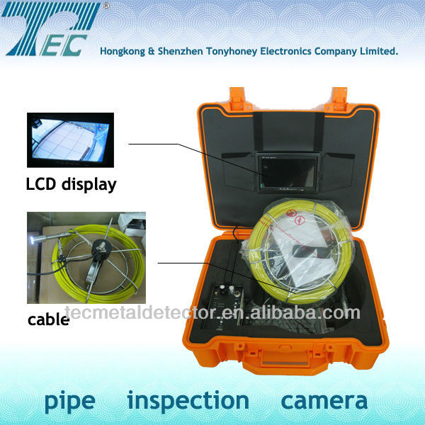 TEC-Z710DLK Video Pipe Inspection System with DVR,512hz Transmitter,Keyboard