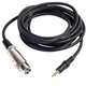 3.5mm stereo TRS male to 3pin female XLR audio cable