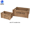 wood vintage storage desktop box