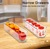 Clear Plastic Stackable Set of 6pc Kitchen Pantry Cabinet Freezer Refrigerator Storage Organizer Bins with Handle