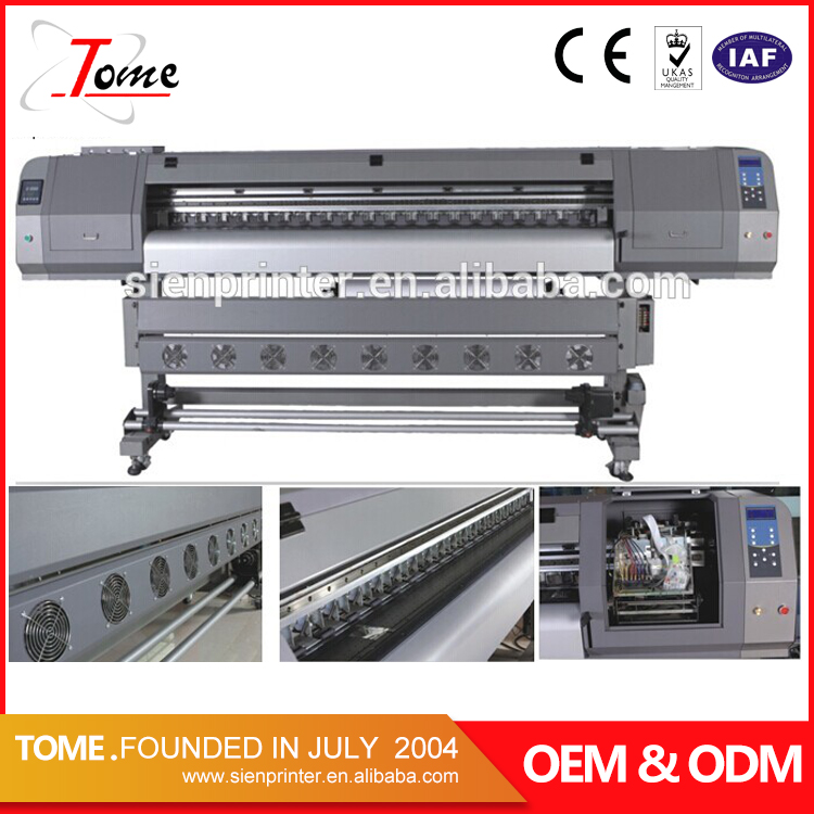 1.8 / 3.2m flex banner sticker eco solvent inkjet printer / printing machine price