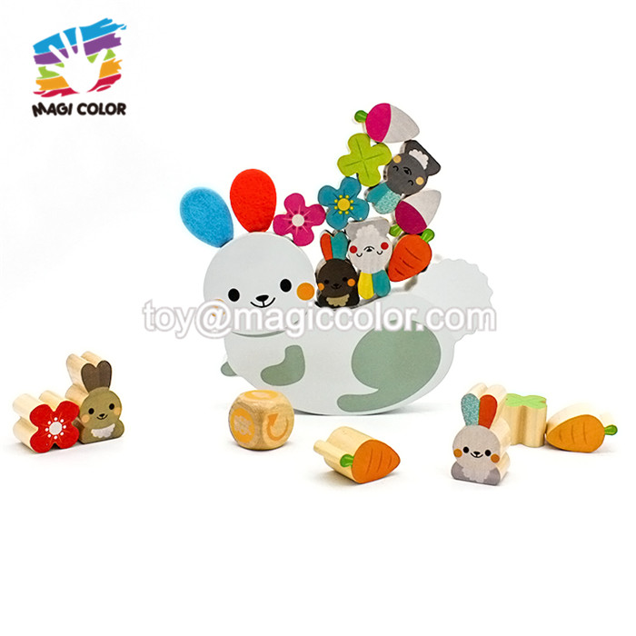 2019 New hottest funny baby wooden play blocks for preschoolers W11F078