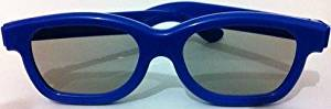 5 Pairs of Blue Childrens Passive 3D Glasses for Kids Universal for Passive TVs Cinema and Projectors Such as RealD Toshiba LG Panasonic