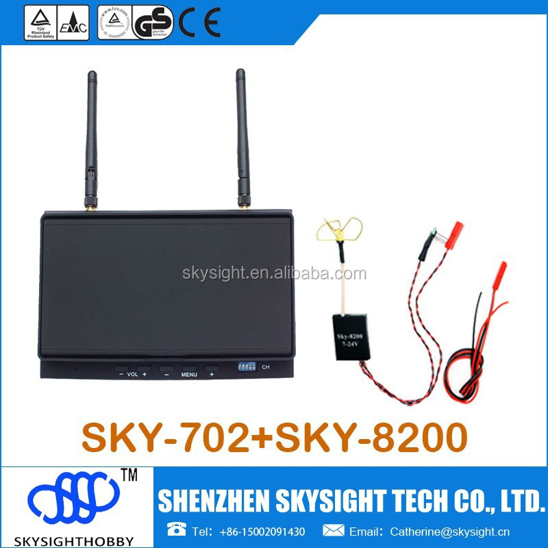 Fpv Kit (sky702+sky-8200) Mini Fpv 5.8g 200mw Transmitter +7
