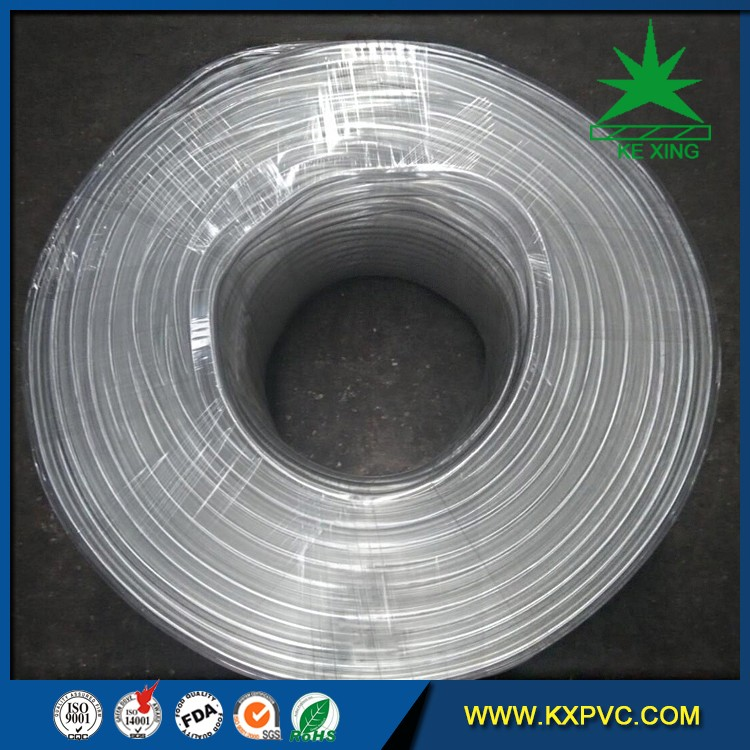 Clear Flexible PVC Fiber Reinforced Inflatable Hose Pipe Tube For Water Delivery