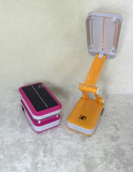 Folding rechargeable led table lamps/Solar charging reading lamp