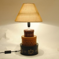JL-1519 Student leaning Oval paper base Original decorative table lamp for home