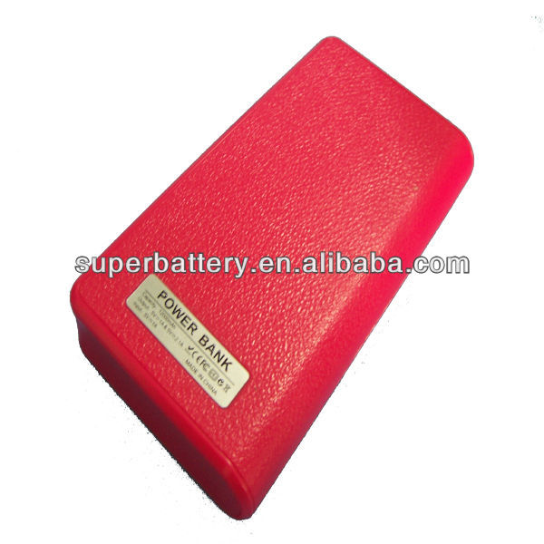 Wallet shape portable power bank 12000 mah with flishlight