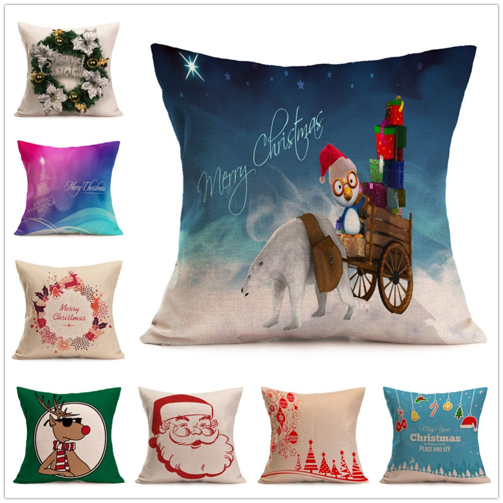 Multi-color 40cm Soft Decorative Cheap Wholesale Christmas Design Sofa Cushion