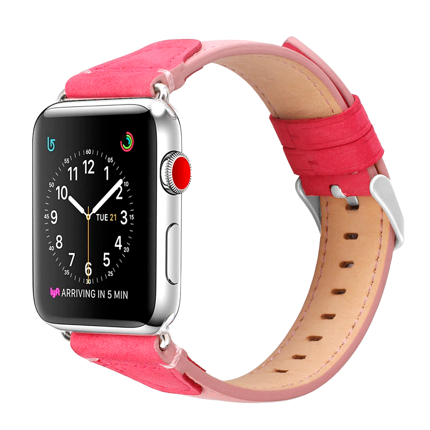 Amazon top seller 2019 pour apple iwatch bande, bracelet en cuir Véritable pour apple watch series 4 44mm