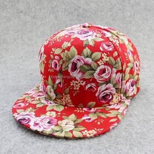 Flower Snapback Hats Custom 4fc6febca646