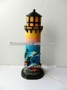 2014 Resin new product decorative lighthouse for home decor