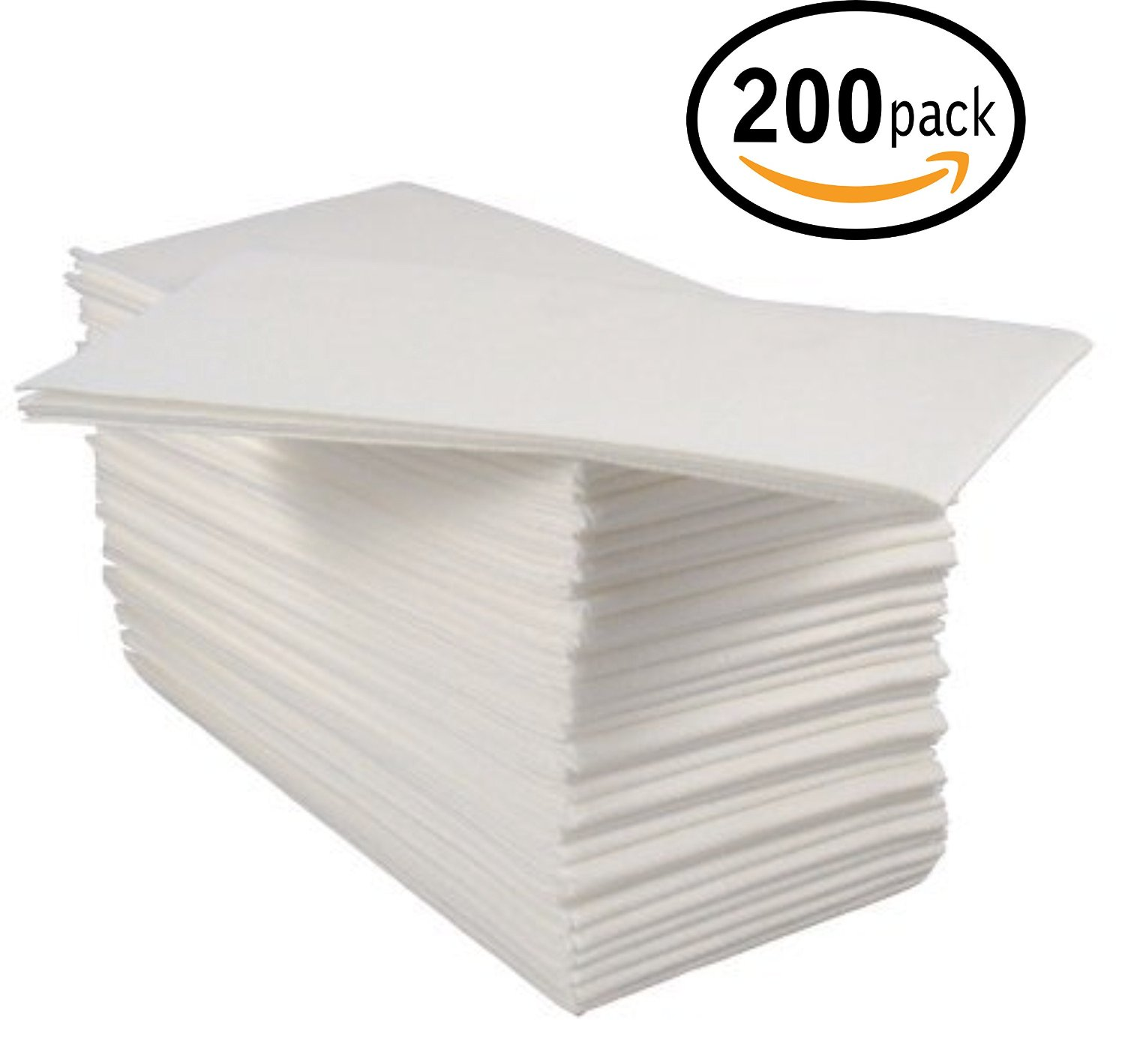 Touch-of-Linen, Disposable Cloth-Like Tissue Paper, Hand Napkins / Linen-Feel Guest Towels, White, Pack of 100