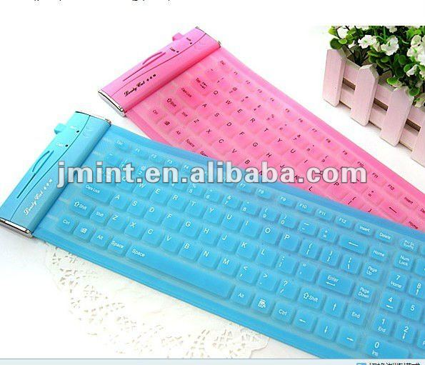 waterproof roll-up for ipad silicon keyboard