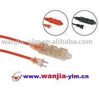 16/3 SJTW power cord/extension cord with transparent plug & socket