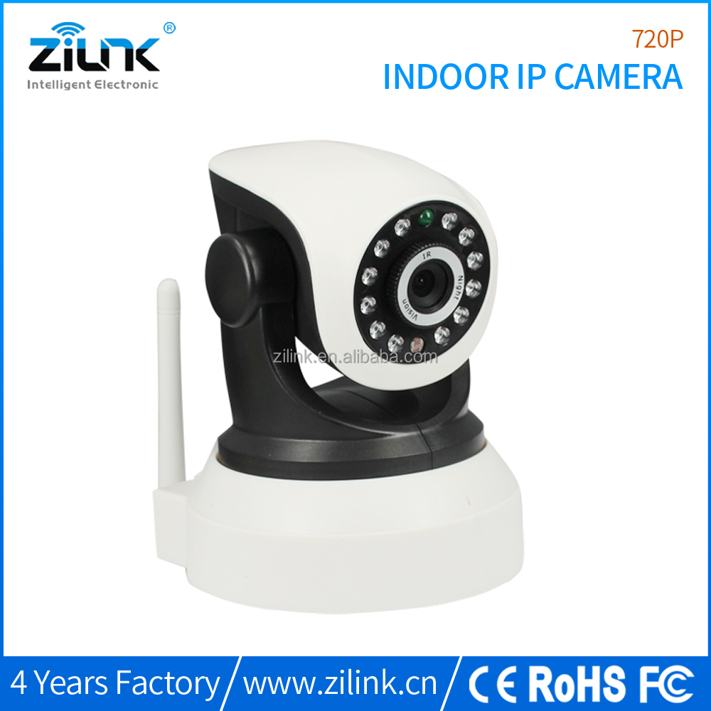 HD 720p indoor pan & tilt TF card recordable baby monitoring wireless ip camera