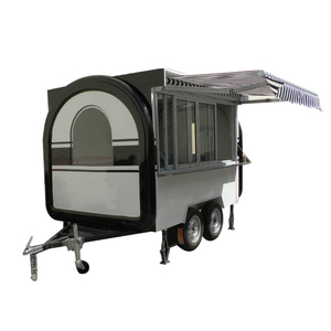 Towable Stainless Steel Move Hot Dog Ice Cream Food Trailer For Sale