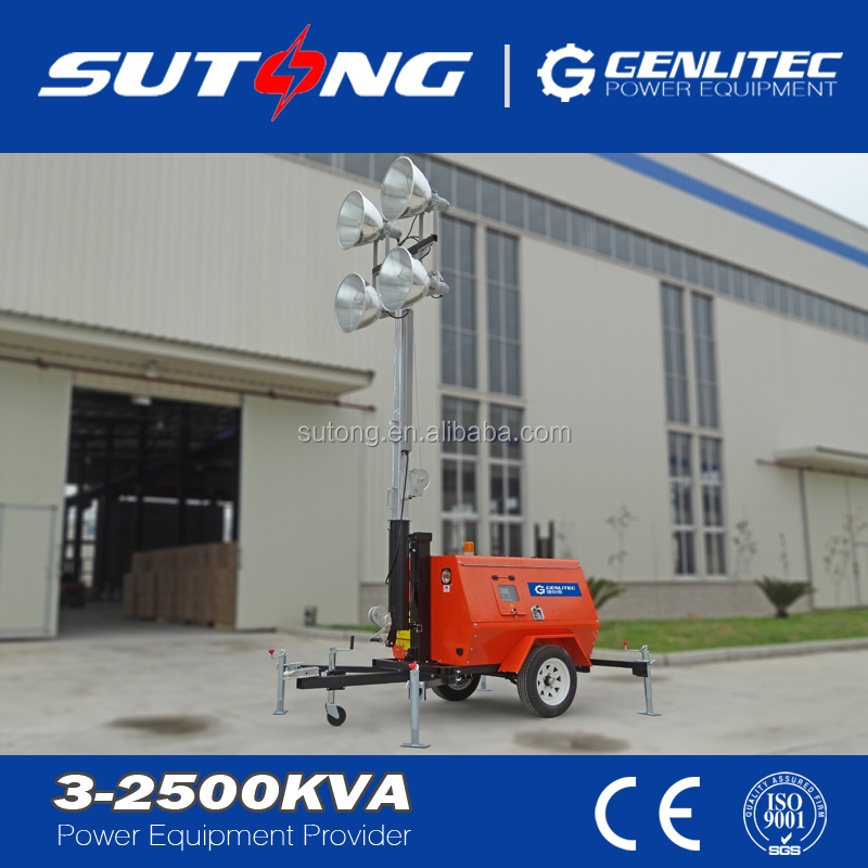 Mobile Light Tower Diesel Generator 6.7KW with Kubota Engine