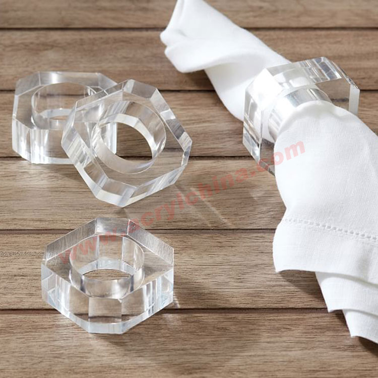 Customize Table Accessories Plexiglass Napkin Rings for stars Restaurant