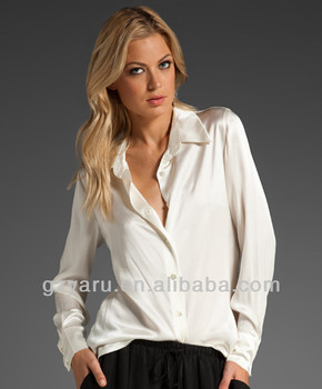 2aeac2990e9 ladies long sleeve white satin blouses, View long sleeve white satin  blouse, Yaru Product Details from Guangzhou Yaru Garment Co., Ltd. on  Alibaba.com
