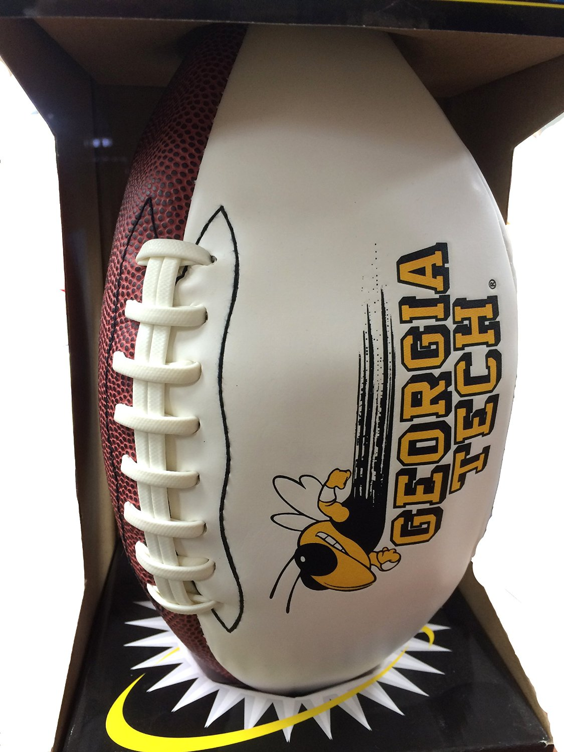 Georgia Tech Official Size Synthetic Leather Autograph Football