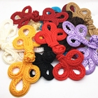 COOMAMUU Large Traditional Handcraft Decor Buttons Classic Chinese Frog Closure Buttons Knot Fastener for Cheongsam Tang Suits