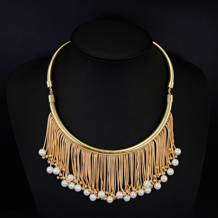 Pearl Chain Necklace Designs Bridal Necklace Elegant Gold Chain ...
