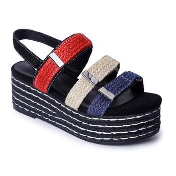 9b6dea19dc6 2017 mujeres plataforma sandalias alpargatas colorida fiesta sandalias para  mujer verano Zapatos sandalia deportiva