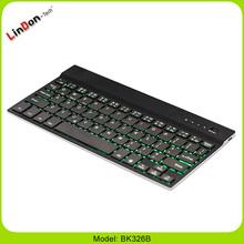 Ultra Compact Slim Profile Wireless Bluetooth Keyboard with Rechargeable Battery