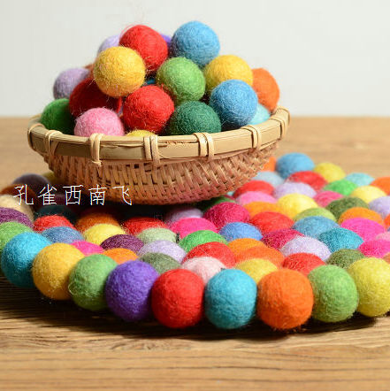 100% wool felt ball Christmas decration felt ball