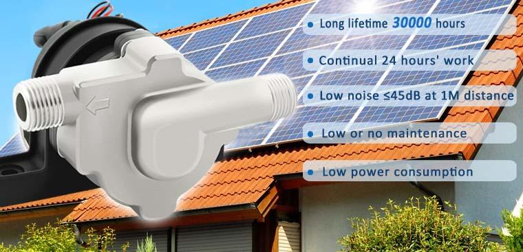 12 Volt Water Pump DC Solar Pump Solar Circulator Pump