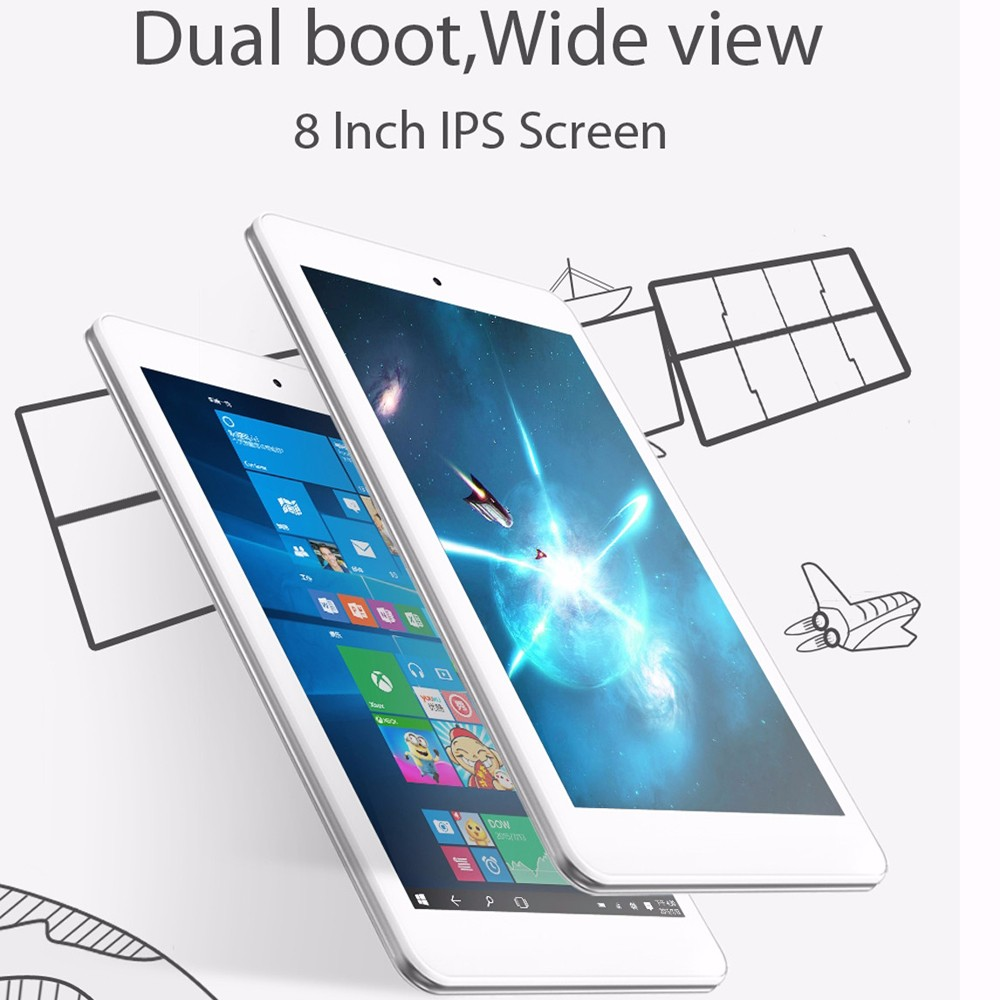 Hot Jual 8 inch Cube iwork8 Udara mini Laptop Jendela Android ganda OS Tablet PC 2 GB + 32 GB X5-Z8350 Intel Atom Quad Core 1.8 GHz