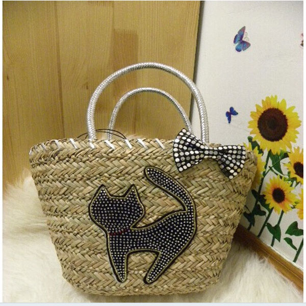 Hot Sale!!!2014 China manufacture Bohemia straw basket bag