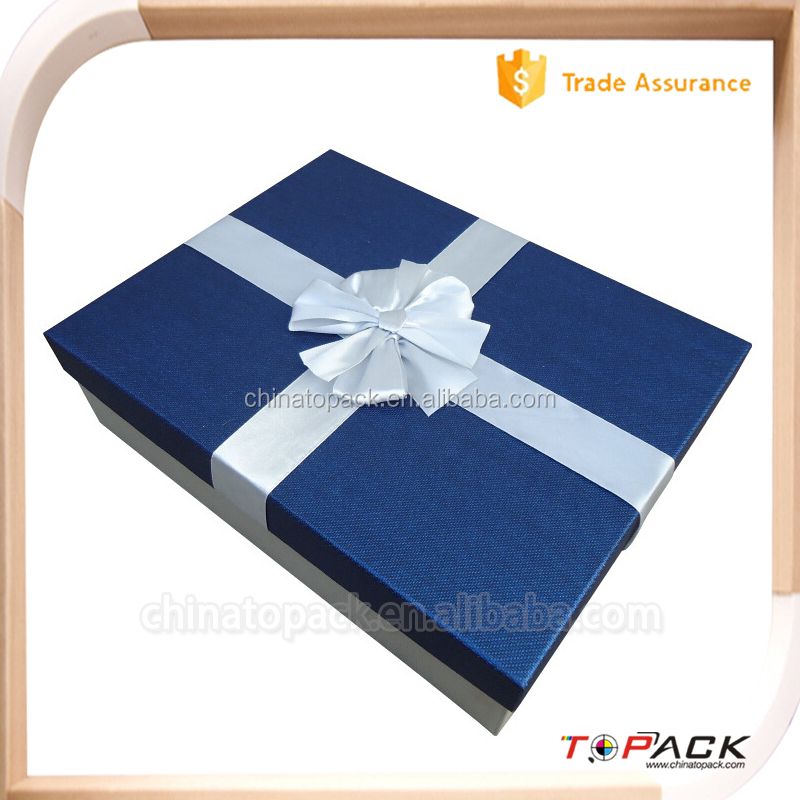 eco custom made large folding gift wrapping paper box