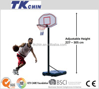 Official standard adjustable outdoor basketball hoop stand