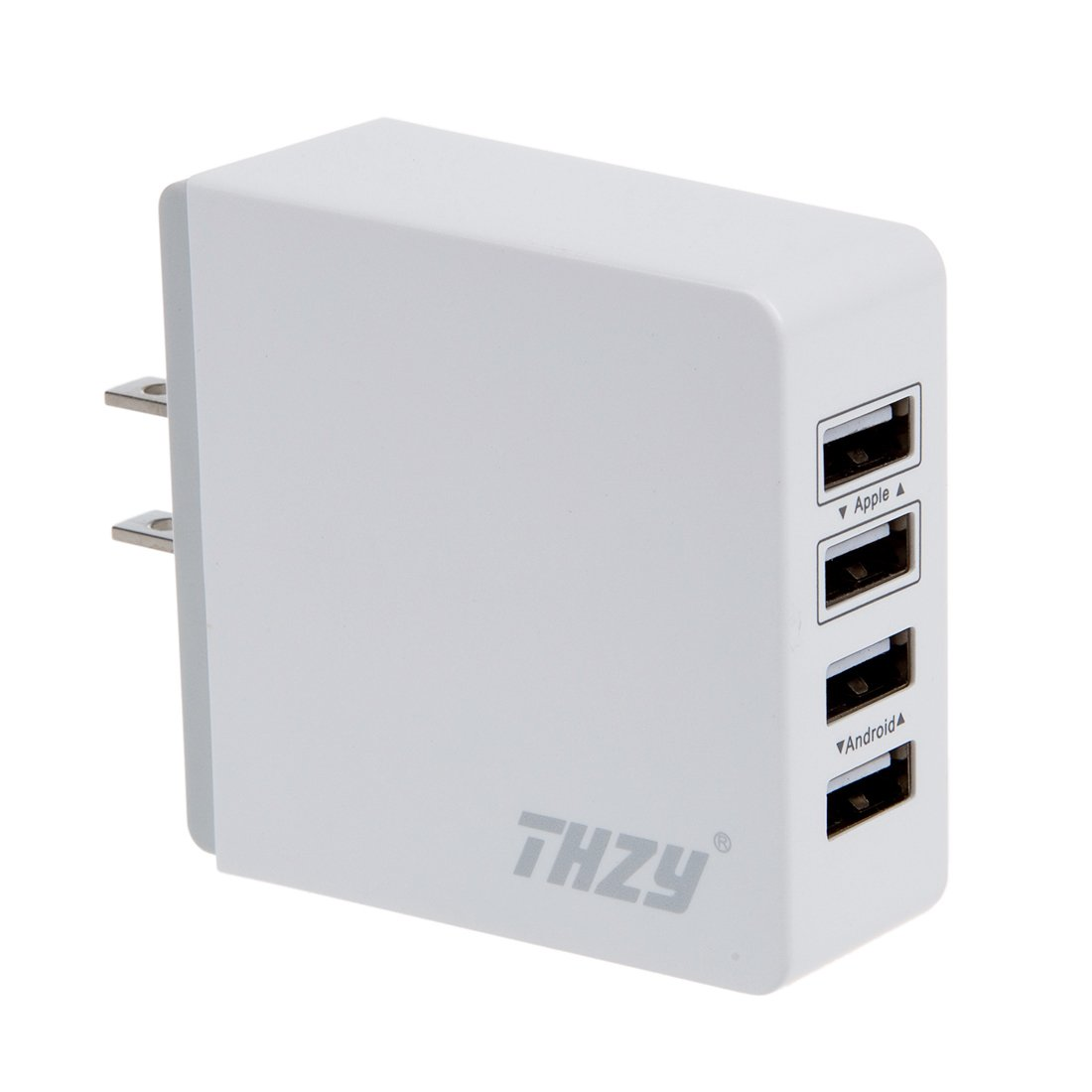 4-Port USB Wall Charger, THZY 7.2A 36W 4-Port USB Home Travel Charger with SmartID Tech for iPhone iPad, Samsung Galaxy, HTC LG Nexus Moto Blackberry, Tablets, Power Bank