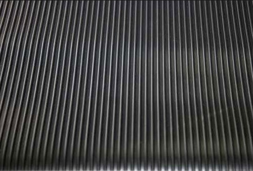 Anti Fatigue Fine Ribbed Rubber Mat Fine Thin Narrow