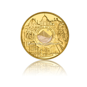 The Wonders of The World Pyramid Gold Coin