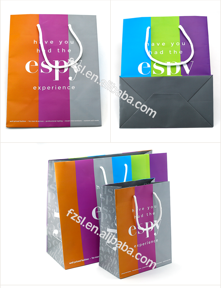 PSBSL1720 high quality custom made paper shopping bag