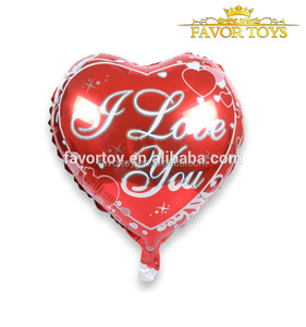 Inflatable self sealing valentine's day 18-inch love foil heart balloon for wedding